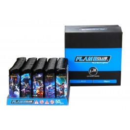 Lighter- Flame Club Electronic 50PK