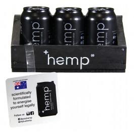 Hemp +Hemp Energy Drink 12 Cans