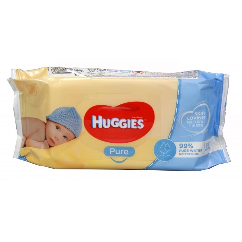 Huggies Wipes - Natural care - Pure 56pk