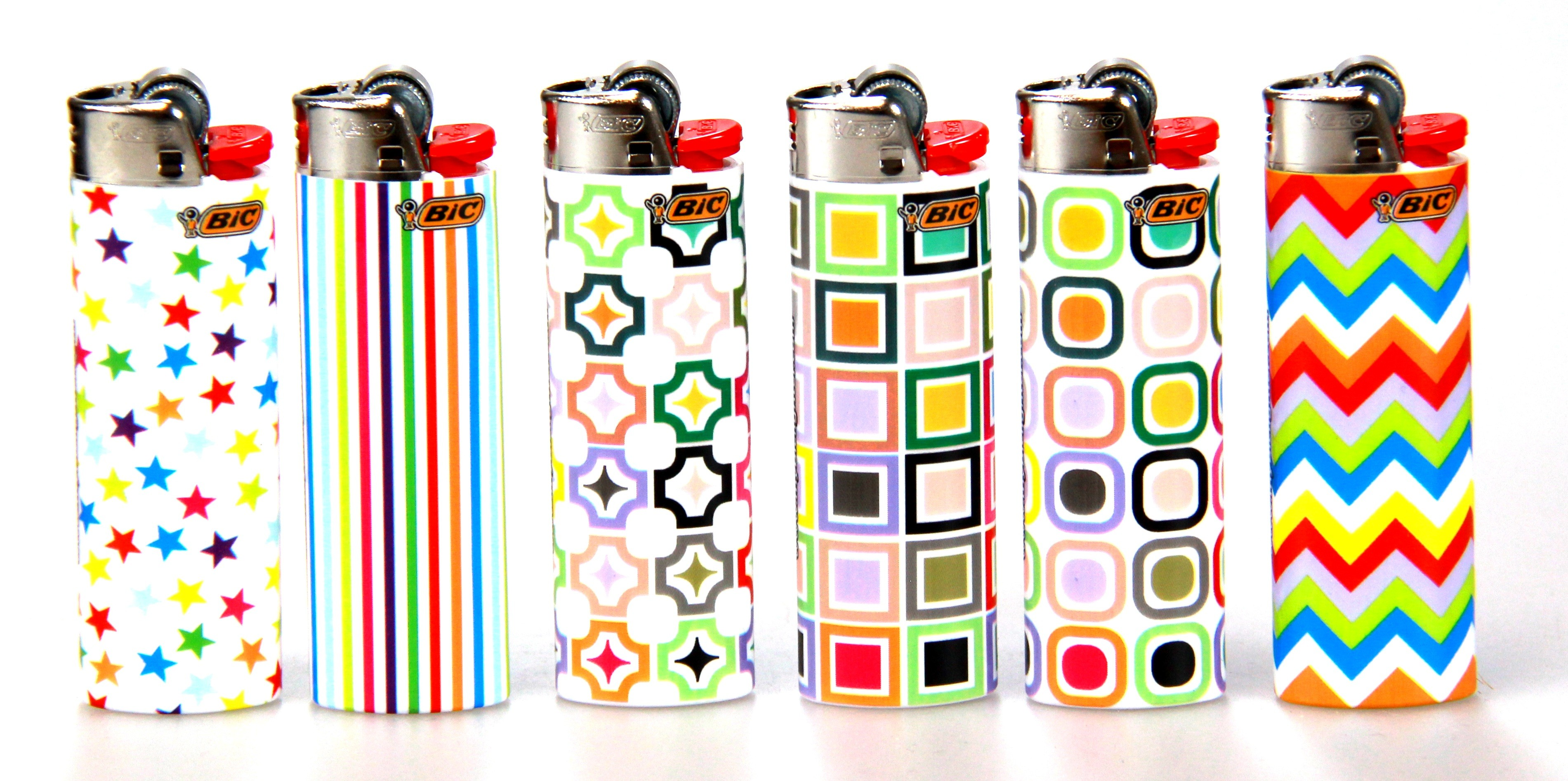 bic print design on fire disposable lighters products peleguy