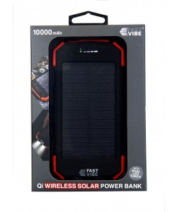 Fast Vibe Wireless Solar power bank 10000mAh