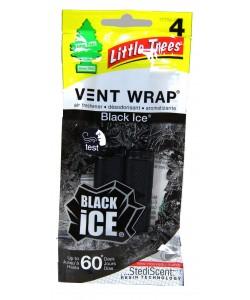 Little Trees Vent WRAP Black ICE 4pk