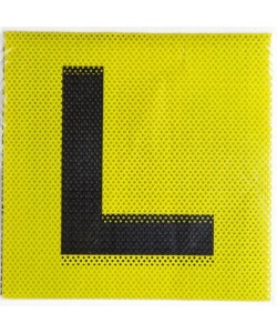 L Plate see through yellow