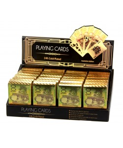 Playing Cards Gold Plated