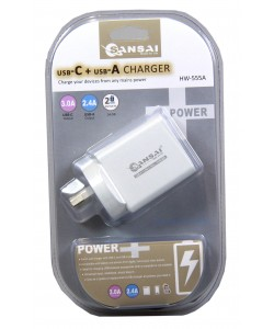 Wall Charger USB C(3A)+A(2.4A)