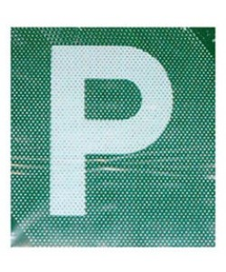 P Plate plastic green