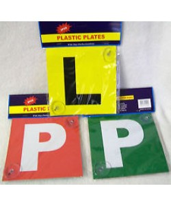 P Plate plastic red